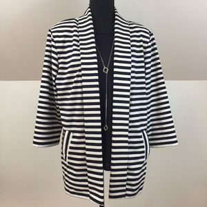 Christopher & Banks Tops - Christopher & Banks Striped Open Shawl Cardigan